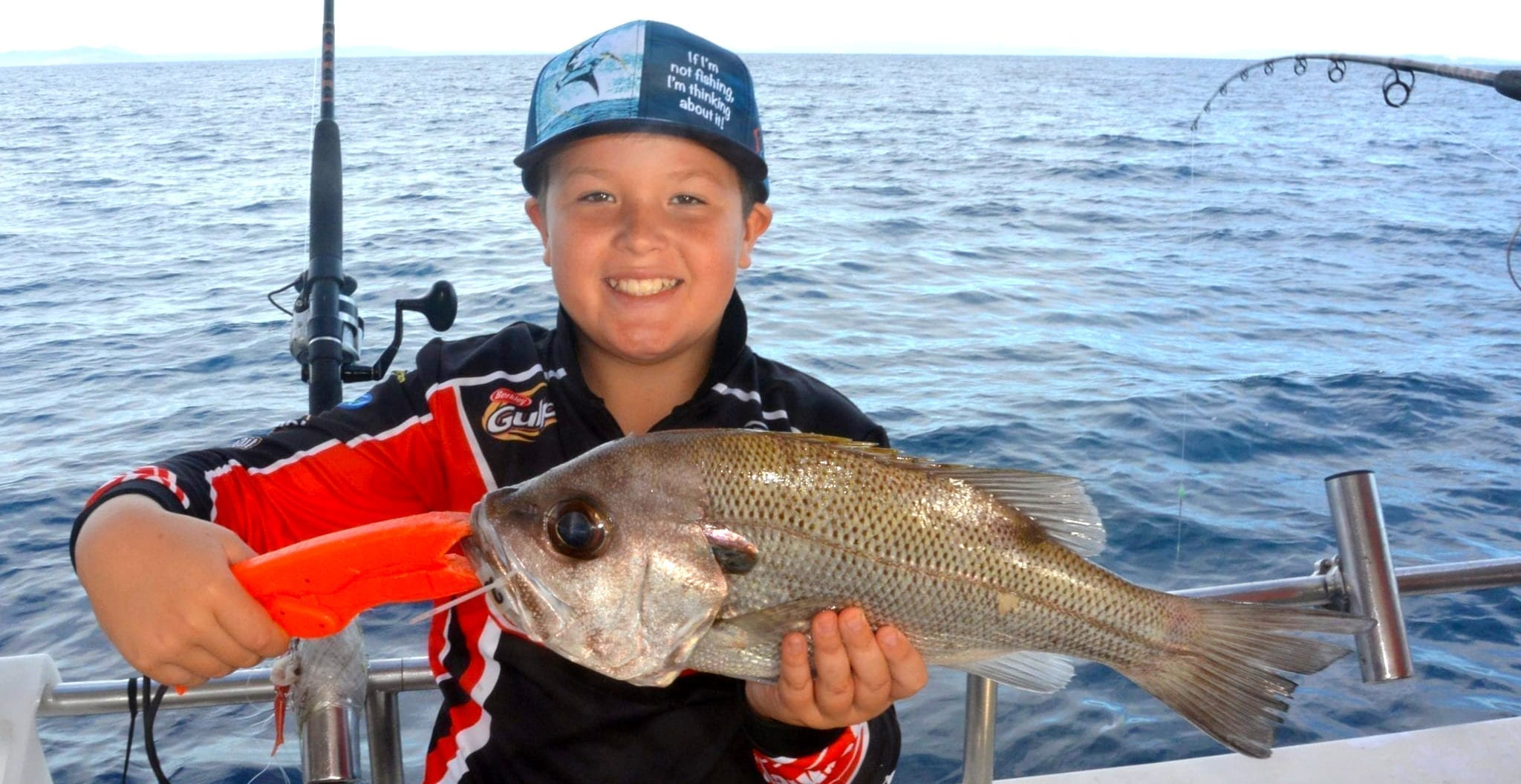 A kids catch on a 5 hour Deep Sea Fishing charter with Sunshine Coast Afloat